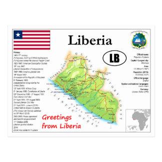 Liberia map Postcard