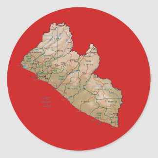 Liberia Map Sticker