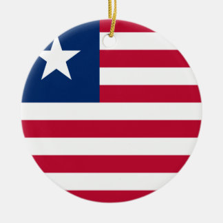 Liberia National World Flag Ceramic Ornament