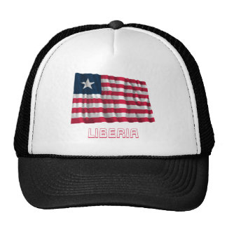 Liberia Waving Flag with Name Trucker Hat