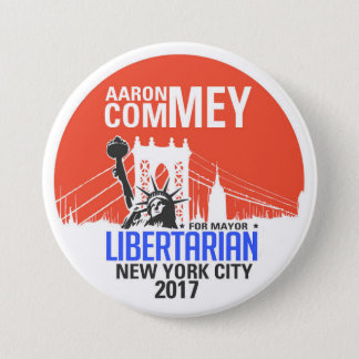 Libertarian Aaron Commey for NYC Mayor 7.5 Cm Round Badge