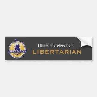 Libertarian bumper sticker