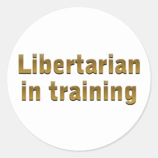 Libertarian in training sticker