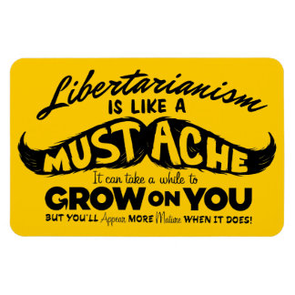 Libertarian Mustache Premium Flexi Magnet