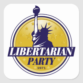 Libertarian Party Logo Square Sticker