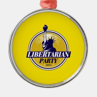 Libertarian Party Metal Ornament