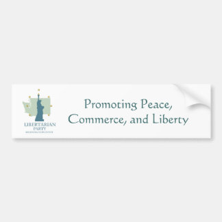 Libertarian Party Washington State Bumper Sticker