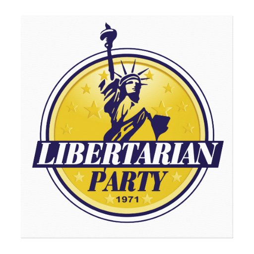 Libertarian Political Party Logo Stretched Canvas Prints