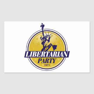Libertarian Political Party Logo Rectangle Stickers
