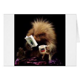 Libertarian Porcupine Mascot Civil Disobedience Card