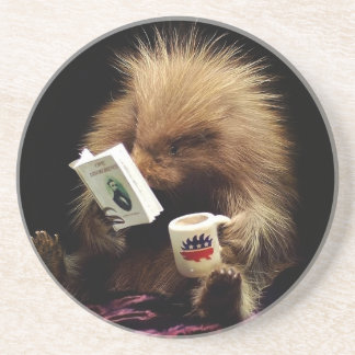 Libertarian Porcupine Mascot Civil Disobedience Drink Coasters