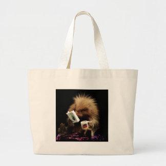 Libertarian Porcupine Mascot Civil Disobedience Large Tote Bag