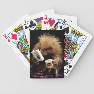 Libertarian Porcupine Mascot Civil Disobedience - Poker Deck