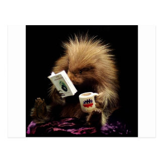 Libertarian Porcupine Mascot Civil Disobedience Postcard