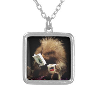 Libertarian Porcupine Mascot Civil Disobedience Silver Plated Necklace