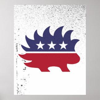 Libertarian Porcupine - -  Poster