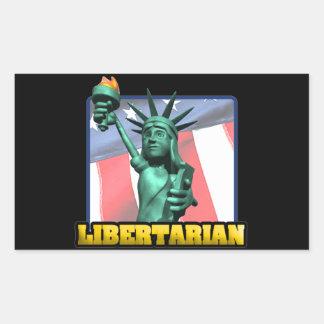 Libertarian Rectangle Stickers