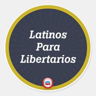 Libertarian Sticker - Latinos Para Libertarios