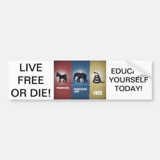 Libertarian / Tea Party Bumper Sticker