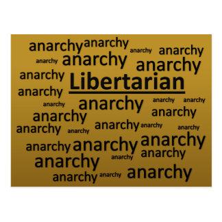 Libertarian Values Philosophy Humor Postcard