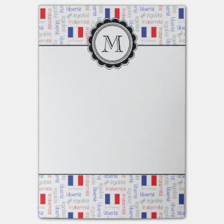 Liberté - Egalité - Fraternité French Word Pattern Post-it® Notes