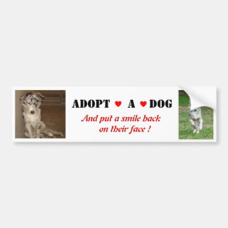 Liberty Adopt a dog Bumper Sticker