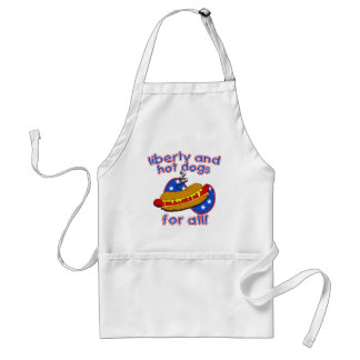 Liberty and Hot Dogs for All Barbecue Apron