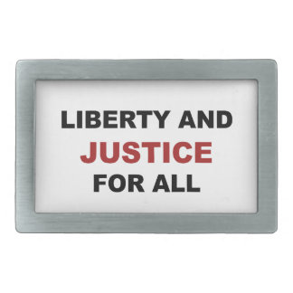 Liberty and JUSTICE for All Belt Buckles