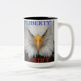 Liberty And Justice Two-Tone Coffee Mug