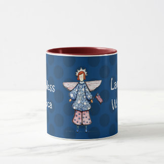 Liberty Angel-God Bless America Mug