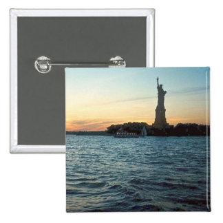 Liberty at sunset button