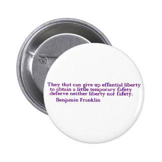 Liberty Pinback Button