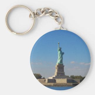 liberty basic round button key ring