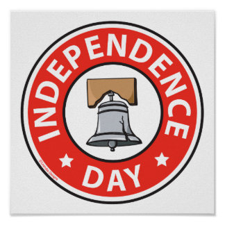 Liberty Bell Independence Day Poster