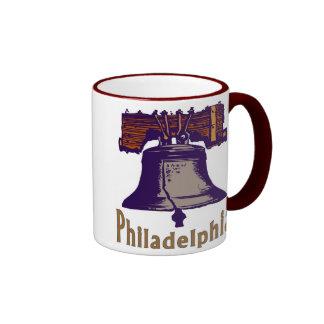 Liberty Bell Philadelphia Ringer Mug