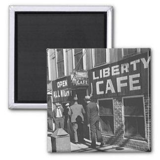 Liberty Cafe Vintage 1939 Restaurant Photo Magnet