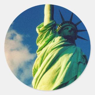 liberty classic round sticker