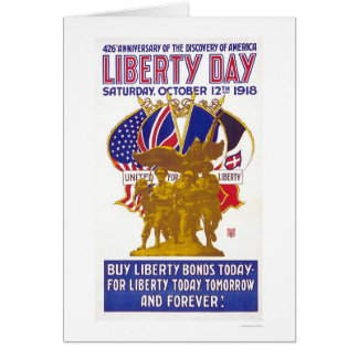 Liberty Day - Anniversary of America's Discovery Card