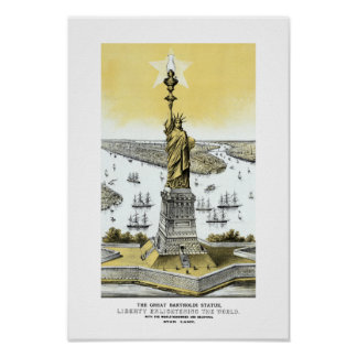 Liberty Enlightening The World Poster