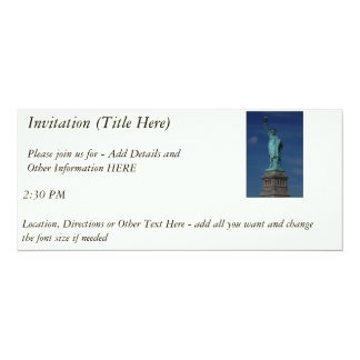 Liberty Enlightening the World - Statue of Liberty 4x9.25 Paper Invitation Card