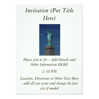 Liberty Enlightening the World - Statue of Liberty 14 Cm X 19 Cm Invitation Card