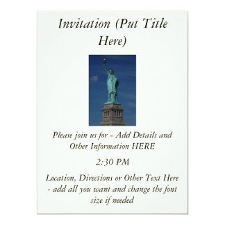 Liberty Enlightening the World - Statue of Liberty 6.5x8.75 Paper Invitation Card