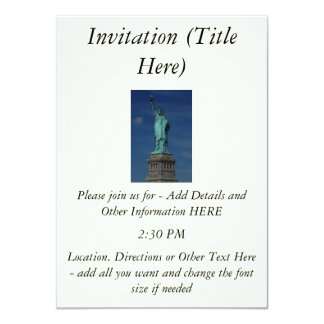 Liberty Enlightening the World - Statue of Liberty 11 Cm X 16 Cm Invitation Card