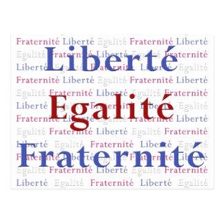Liberty Equality Fraternity 14 Juillet Postcards