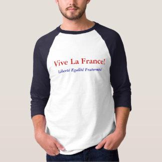 Liberty Equality Fraternity Vive La France T-Shirt