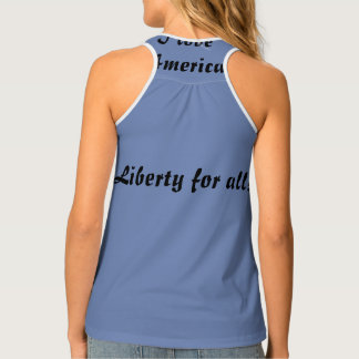 Liberty for all I love America Singlet