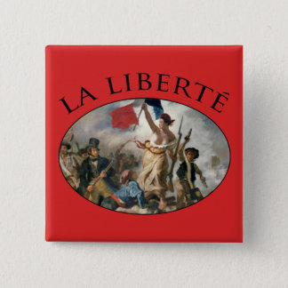 Liberty Guiding the People 15 Cm Square Badge
