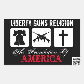 Liberty, Guns, Religion Sticker