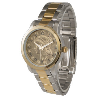 Liberty Head Coin 1853 - Two Toned Bracelet Watch