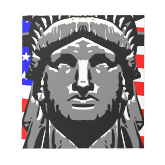 Liberty Head Over Flag Notepad